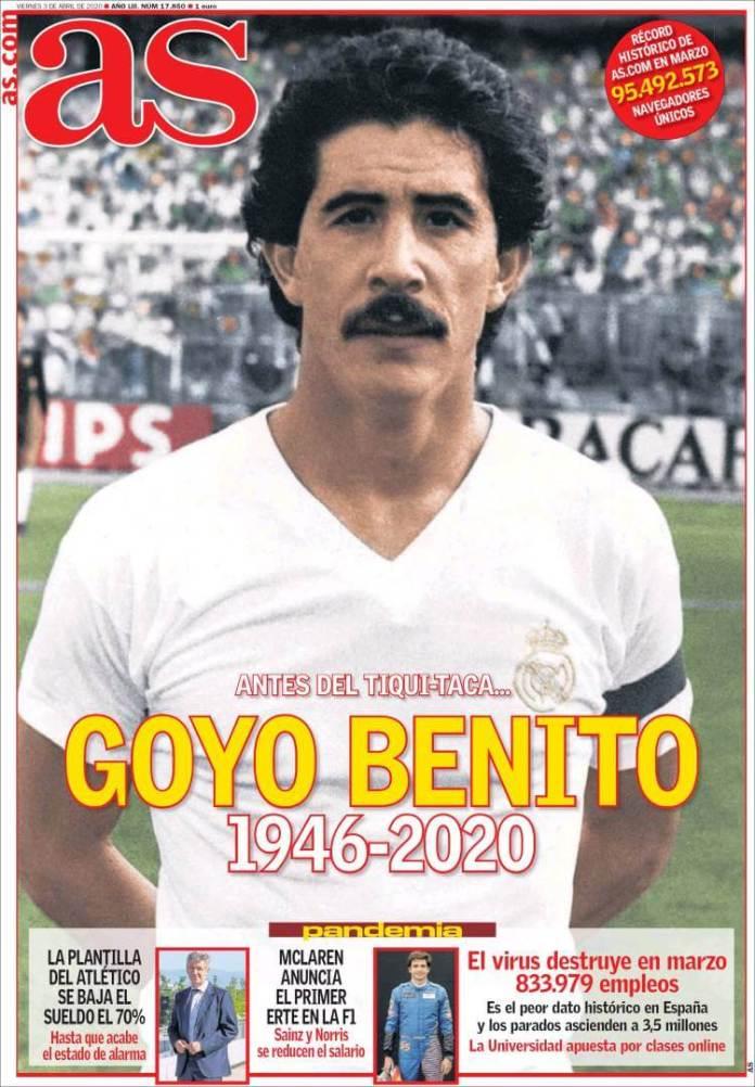 Portadas Diarios Deportivos Viernes 3/04/2020