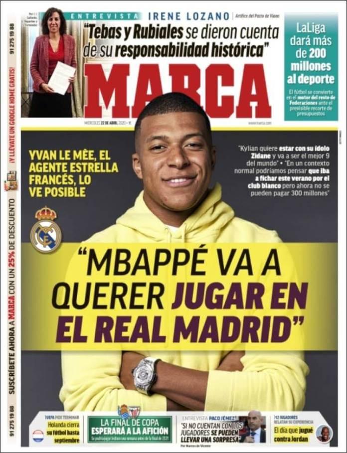 Portadas Diarios Deportivos Miércoles 22/04/2020