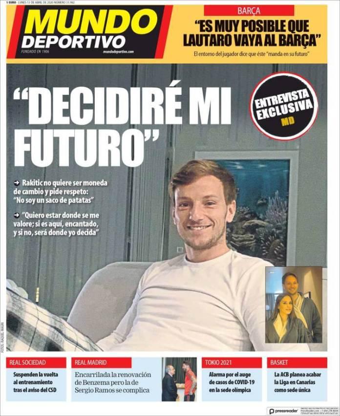 Portadas Diarios Deportivos Lunes 13/04/2020