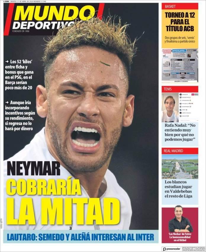 Portadas Diarios Deportivos Martes 21/04/2020
