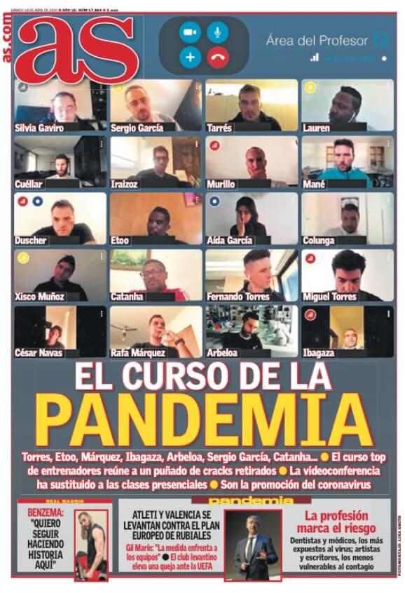 Portadas Diarios Deportivos Sábado 18/04/2020