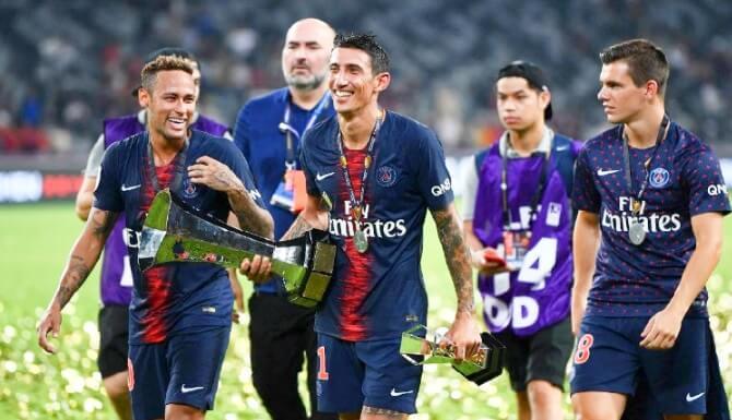 neymar di maria campeones psg supercopa de francia
