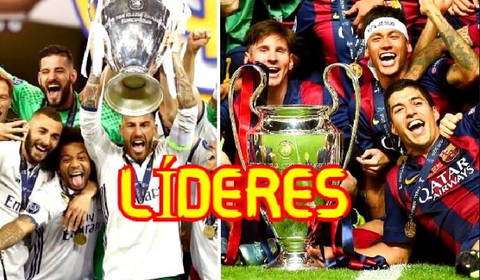 España es el Líder de la Champions League