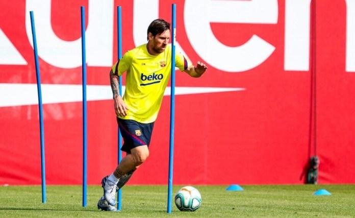 Messi y el Barça hacen su primer entrenamiento