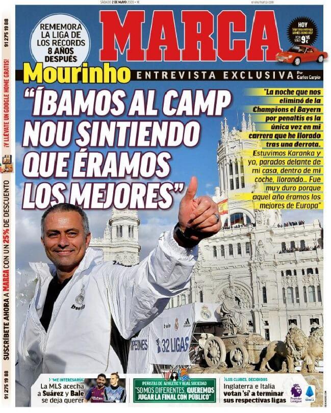 Portadas Diarios Deportivos Sábado 2/05/2020