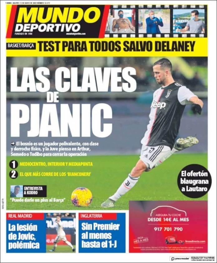 Portadas Diarios Deportivos Martes 12/05/2020