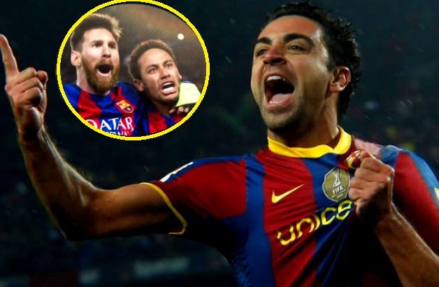 Xavi Sueña con Neymar y Messi en el Barça