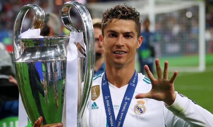 Cristiano cinco champions