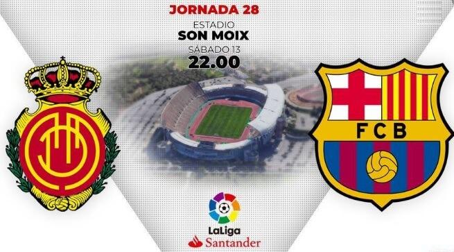 Alineación Mallorca-Barcelona Jornada 28