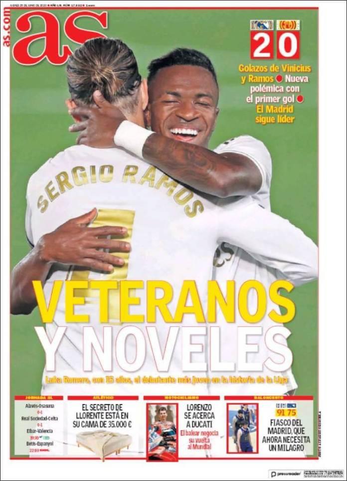 Portadas Diarios Deportivos Jueves 25/06/2020