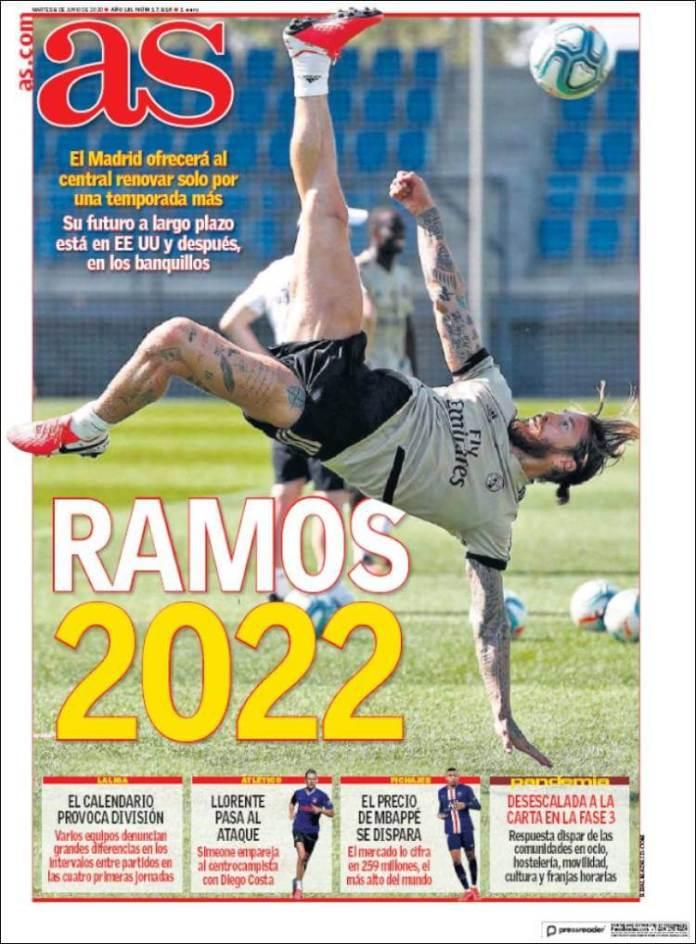 Portadas Diarios Deportivos Martes 9/06/2020