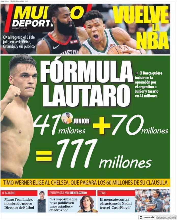 Portadas Diarios Deportivos Viernes 5/06/2020