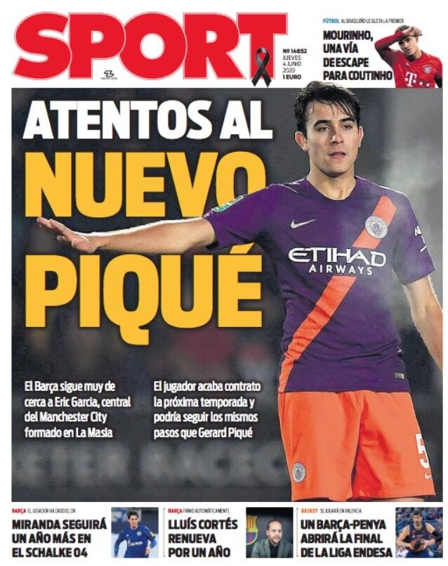 Portadas Diarios Deportivos Jueves 4/06/2020
