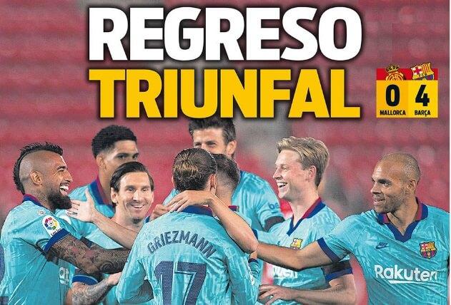 Portadas Diarios Deportivos Domingo 14/06/2020