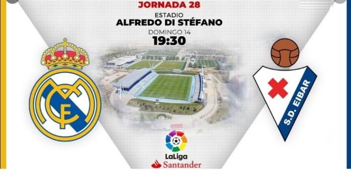 Alineación Real Madrid-Eibar Jornada 28   La Liga 2020