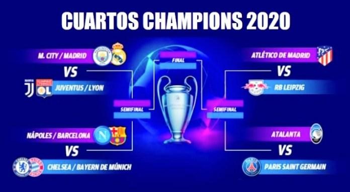 Calendario Cuartos Champions 2020