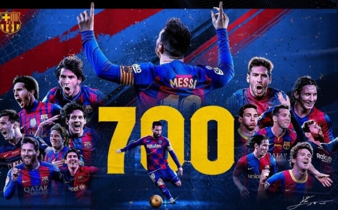messi 700 goles en su carrera