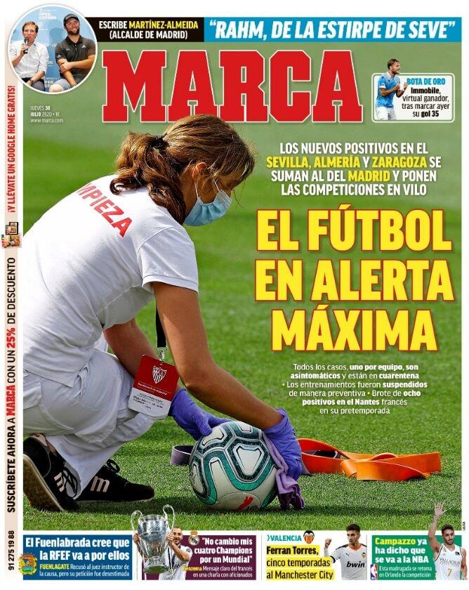 Portadas Diarios Deportivos Jueves 30/07/2020