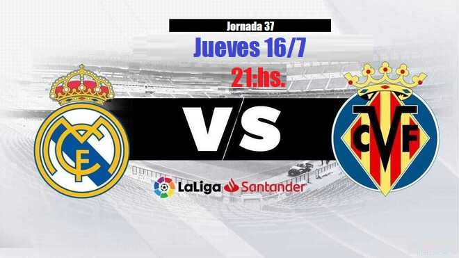 Alineación Real Madrid-Villarreal Jornada 37