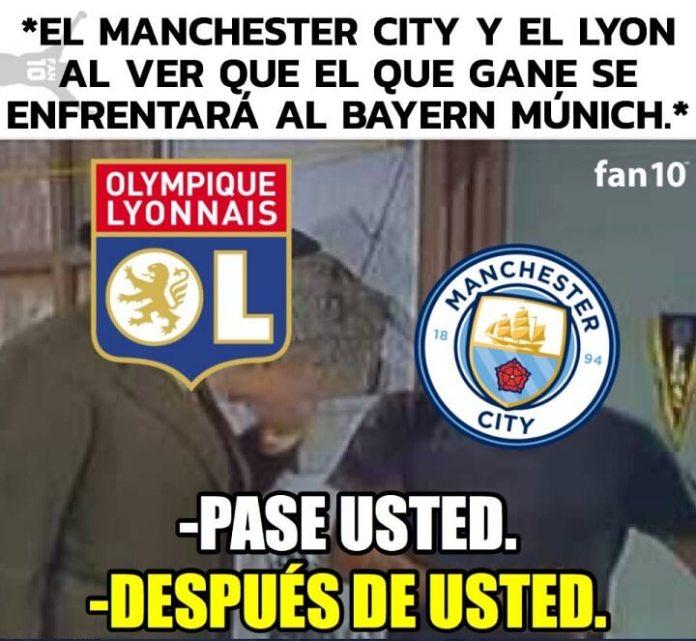 Memes Manchester City-O. Lyon Cuartos Champions 2020