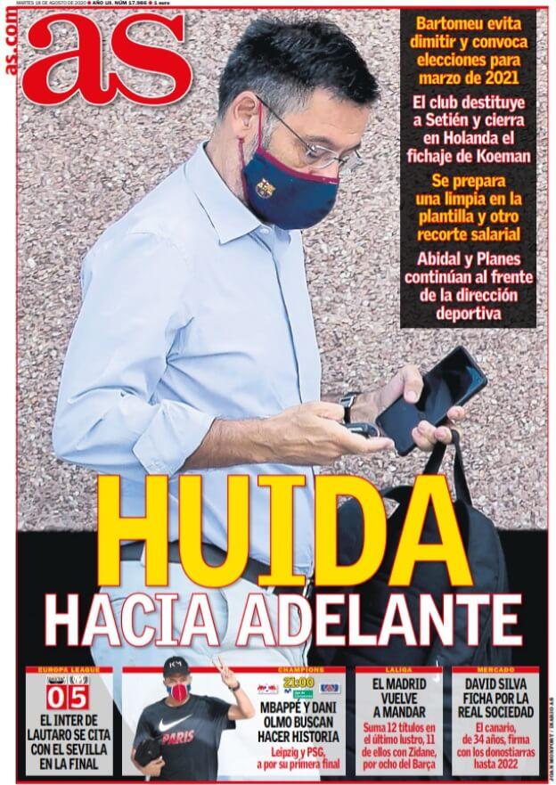 Portadas Diarios Deportivos Martes 18/08/2020