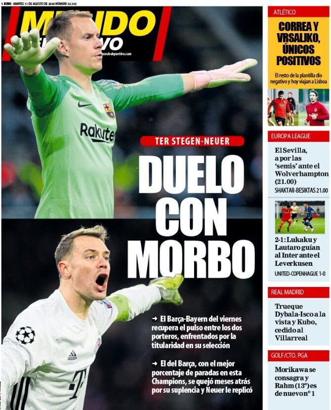 Portadas Diarios Deportivos Martes 11/08/2020
