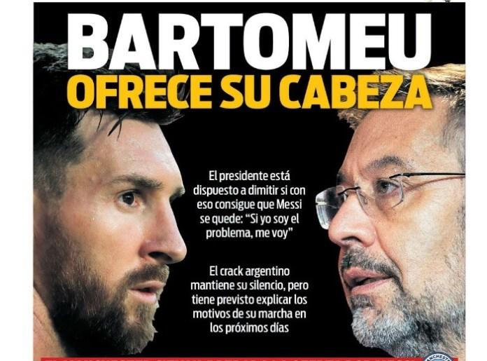 Portadas Diarios Deportivos Viernes 28/08/2020