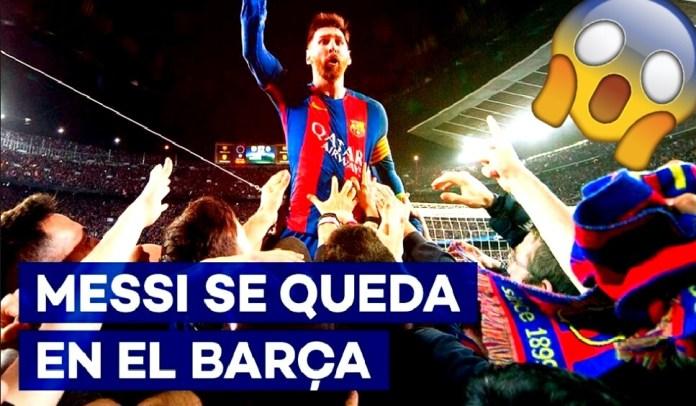 ¡Messi se queda en el Barcelona! - Video completo