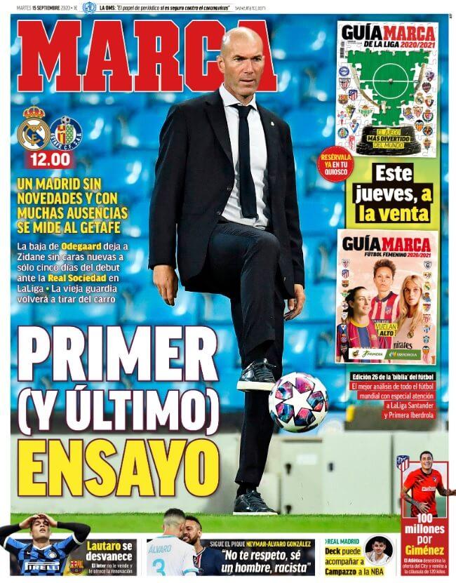 Portadas Diarios Deportivos Martes 15/09/2020