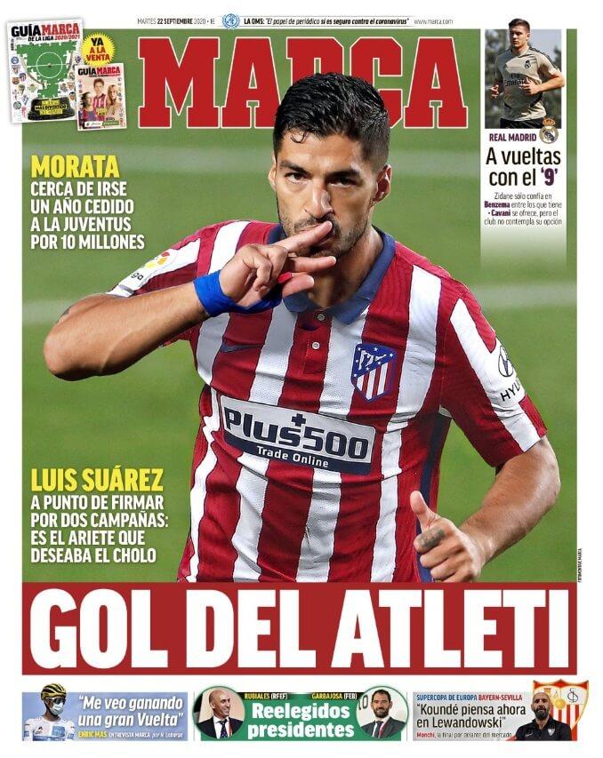 Portadas Diarios Deportivos Martes 22/09/2020
