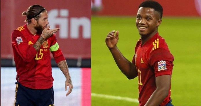 Sergio Ramos y Ansu Fati hacen Historia en la Selección Española