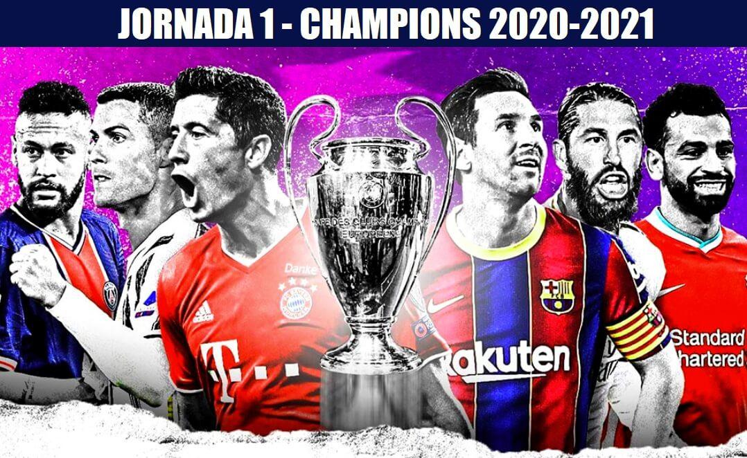 Partidos Jornada 1 Champions League 2020-21   Horarios y TV