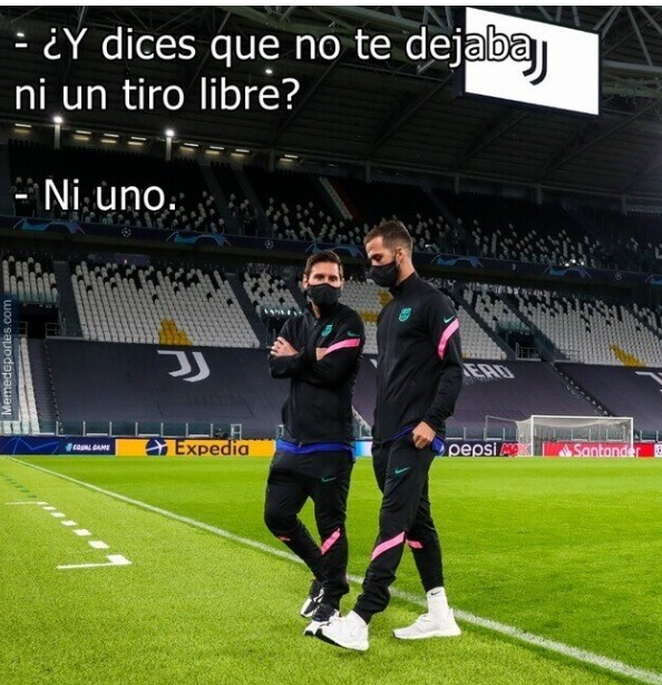 Memes Juventus-Barcelona Champions 2020