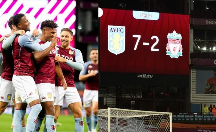 Aston Villa humilla 7-2 al Liverpool de Klopp