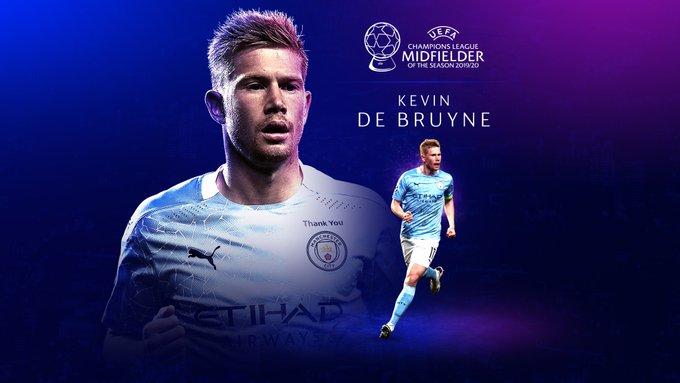 Kevin De Bruyne Mejor Centrocampista del 2019-2020