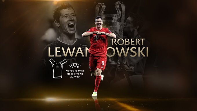 Robert Lewandowski UEFA Best Player 2020