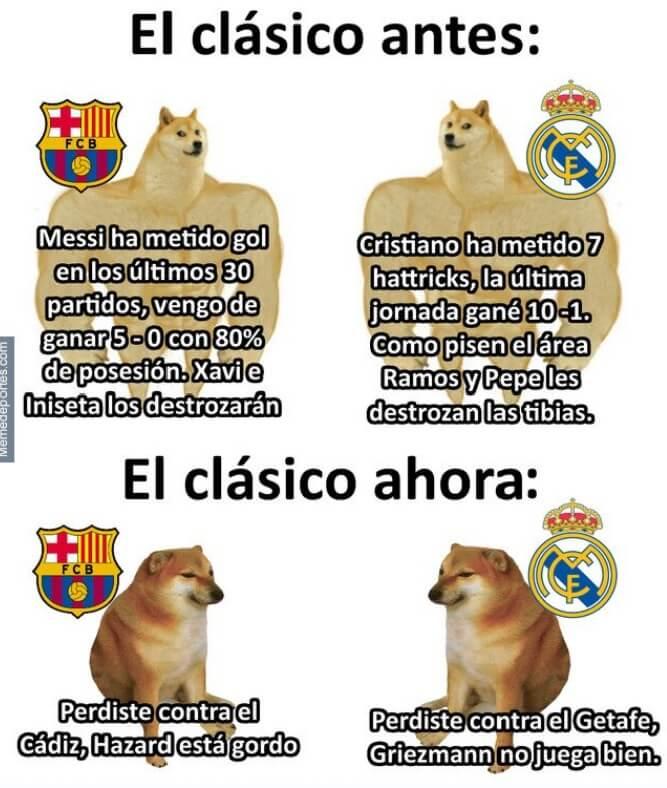 Memes Barcelona-Real Madrid | El Clásico 2020