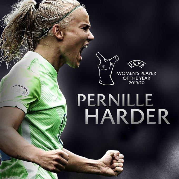 Pernille Harder UEFA BEST PLAYER femenino del 2020