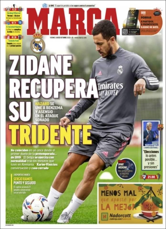 Portadas Diarios Deportivos Viernes 30/10/2020