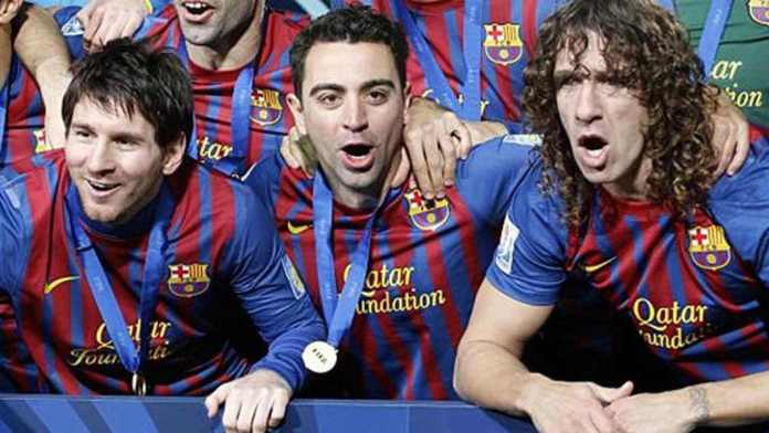 Messi, Xavi y Puyol