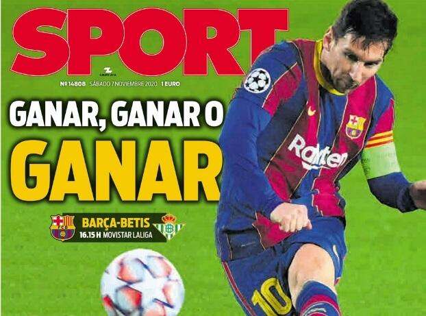 Portadas Diarios Deportivos Sábado 7/11/2020 | Marca, As, Sport, Mundo Deportivo