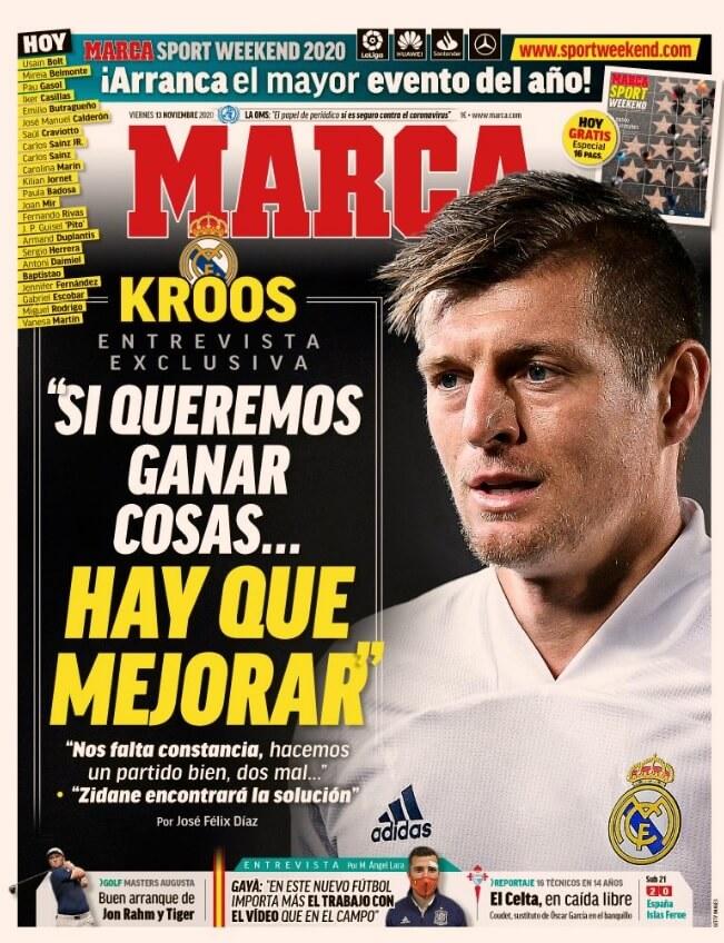 Portadas Diarios Deportivos Viernes 13/11/2020