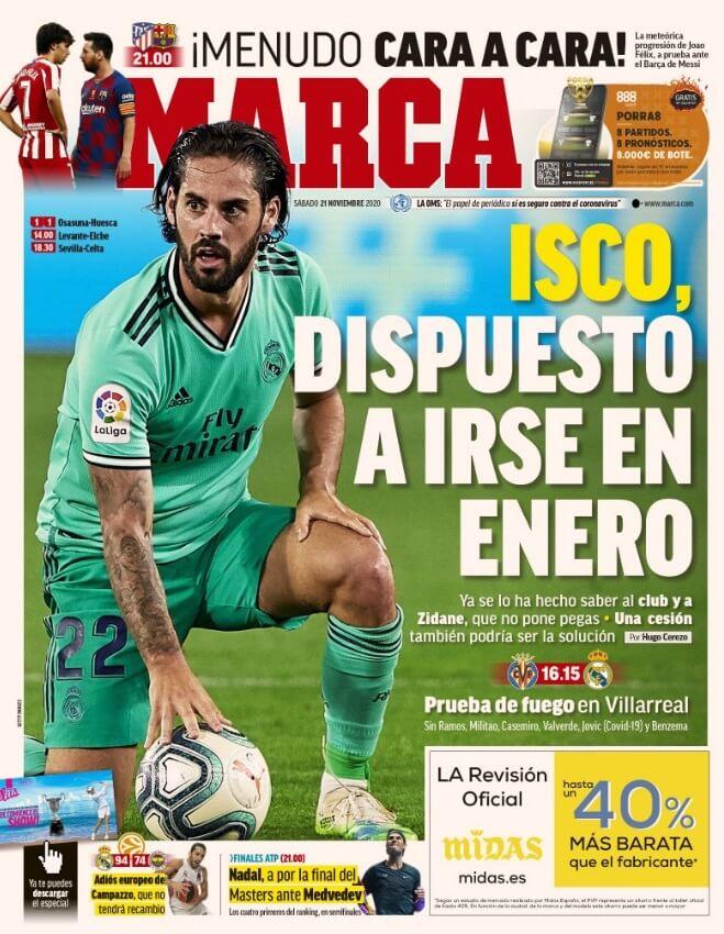 Portadas Diarios Deportivos Sábado 21/11/2020