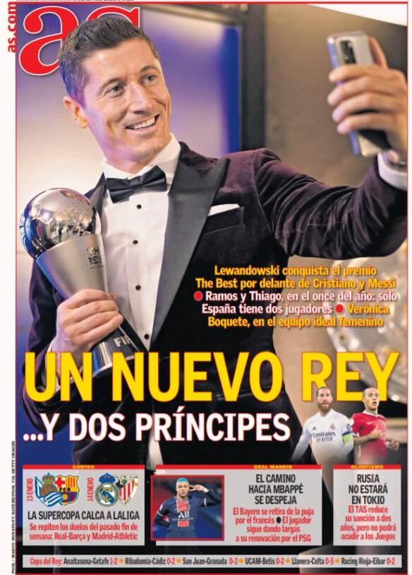 Portadas Diarios Deportivos Viernes 18/12/2020