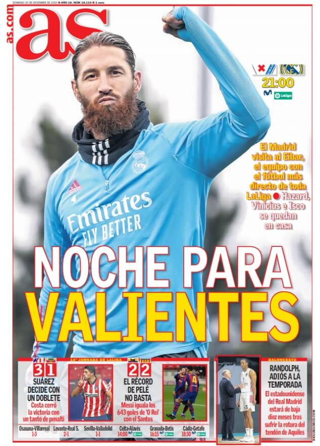 Portadas Diarios Deportivos Domingo 20/12/2020