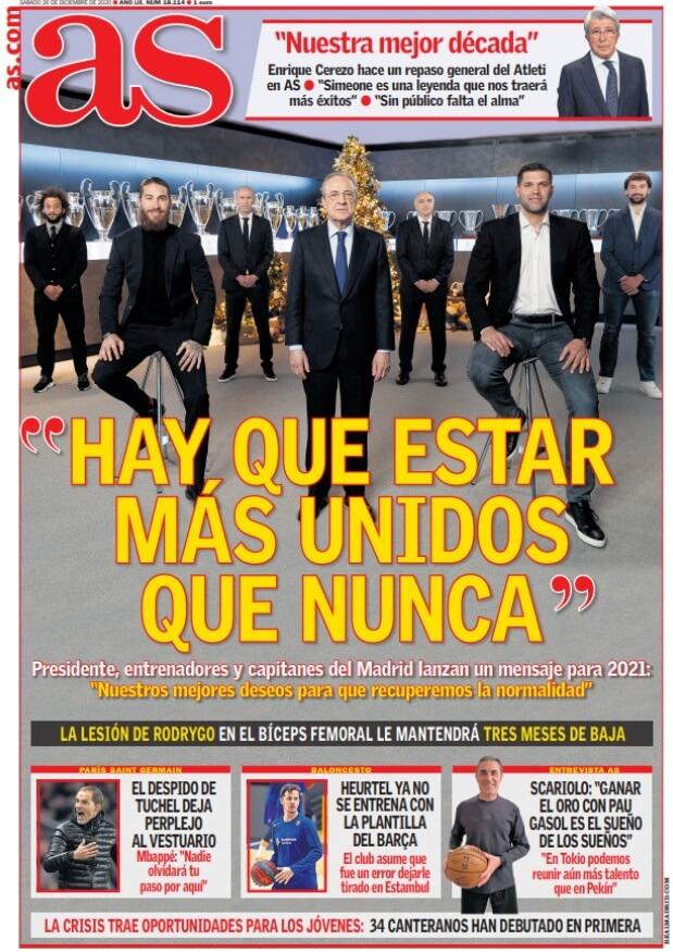 Portadas Diarios Deportivos Sábado 26/12/2020