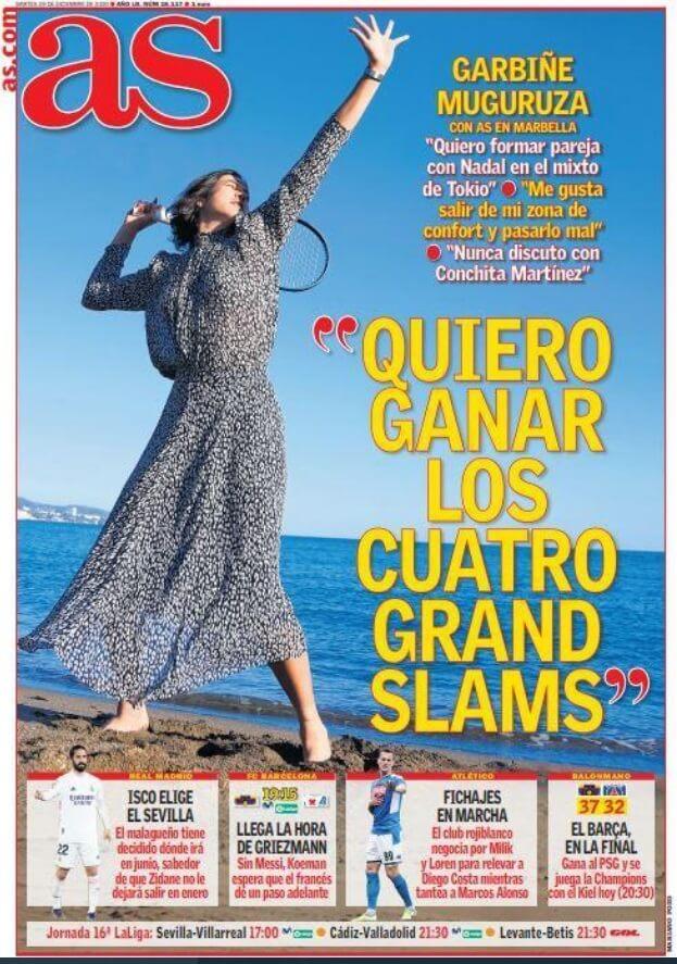 Portadas Diarios Deportivos Martes 29/12/2020