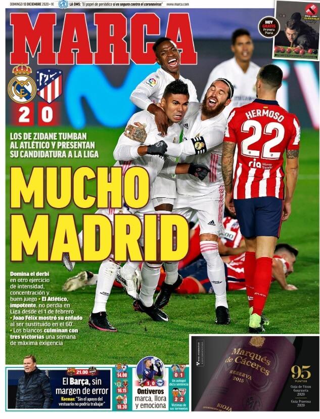 Portadas Diarios Deportivos Domingo 13/12/2020