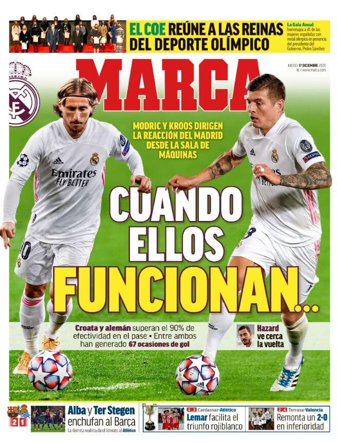 Portadas Diarios Deportivos Jueves 17/12/2020