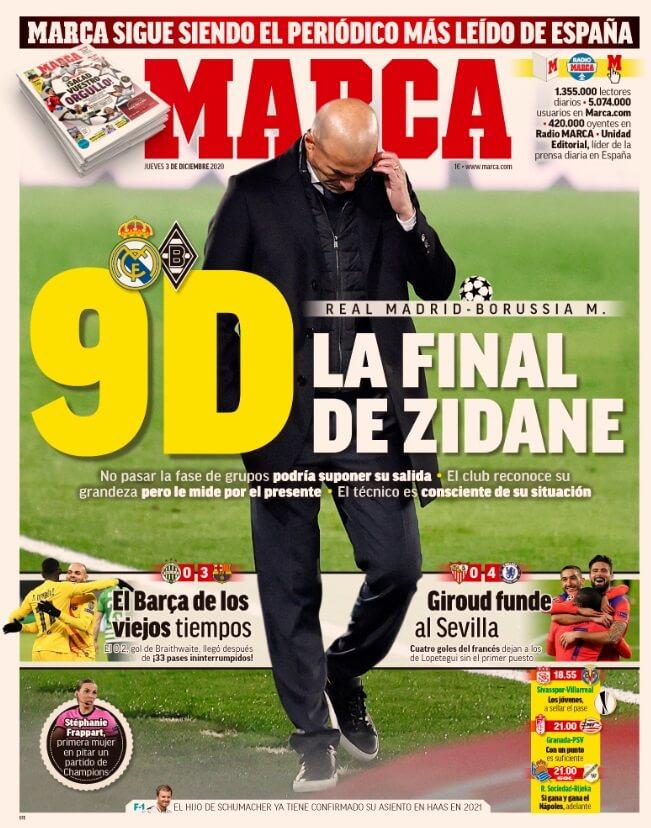 Portadas Diarios Deportivos Jueves 3/12/2020